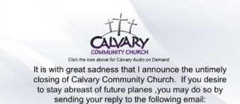 Calvary Church Closing