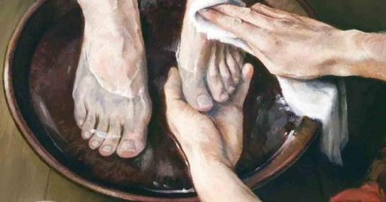 Jesus Washes an Apostle's Feet, Laurie Olson Lisonbee, 2006